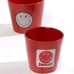 Petit pot Smiley Rouge