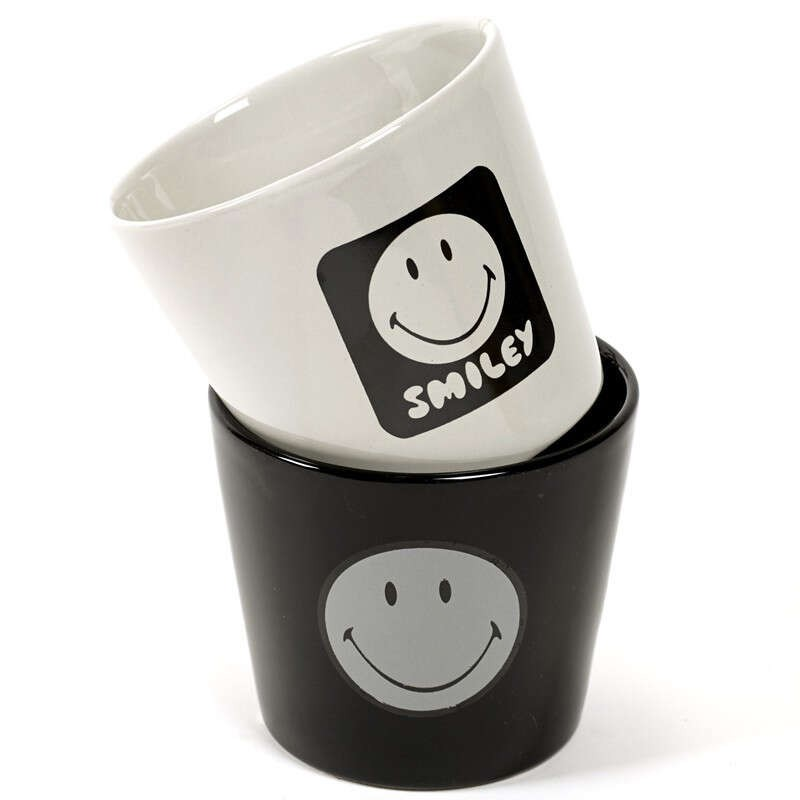 Petit pot Smiley noir