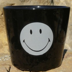 Petit pot Smiley noir 2