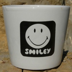 Petit pot Smiley noir 3